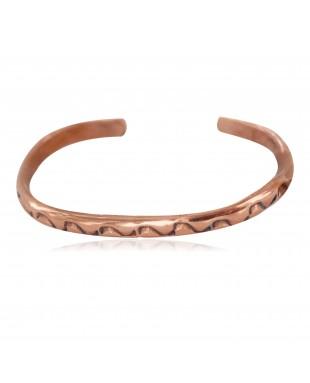 Navajo Handmade Certified Authentic Pure Copper Native American Baby Bracelet 13146-11