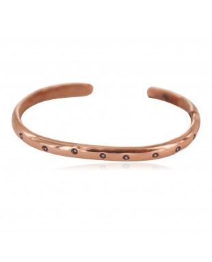 Navajo Handmade Certified Authentic Pure Copper Native American Baby Bracelet 13146-9