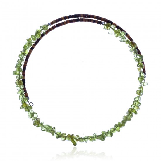 Peridot Certified Authentic Navajo Native American Adjustable Choker Wrap Necklace 25577 All Products NB180926223242 25577 (by LomaSiiva)