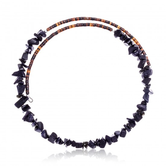 Purple Goldstone Certified Authentic Navajo Native American Adjustable Choker Wrap Necklace 25562 All Products NB180926223232 25562 (by LomaSiiva)