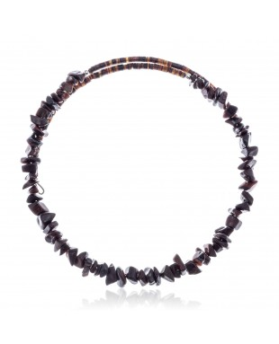 Red Tigers Eye Certified Authentic Navajo Native American Adjustable Choker Wrap Necklace 25571