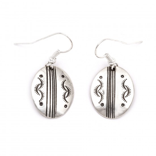 Sun .925 Starling Silver Certified Authentic Handmade Navajo Native American Earrings  27260-5 All Products NB180607034135 27260-5 (by LomaSiiva)