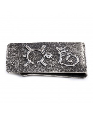 Turtle .925 Sterling Silver Ray Begay Certified Authentic Handmade Navajo Native American Money Clip  13194-6
