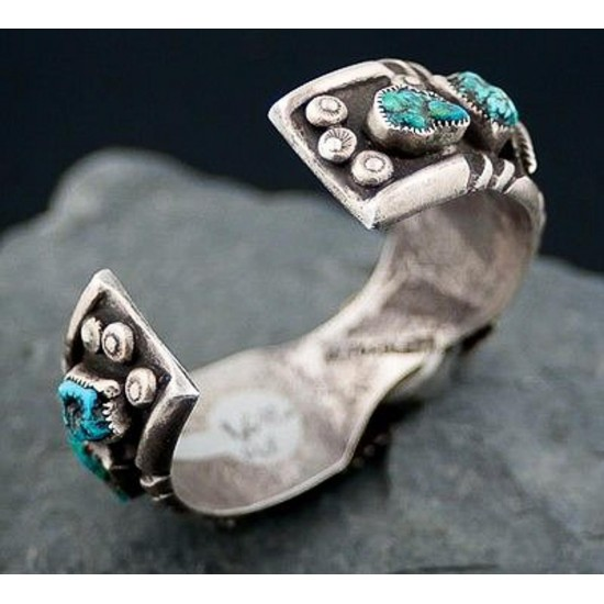 Vintage Style Toadlena Old Pawn Navajo Sterling Turquoise Heavy Native American Watch 251087128694 All Products 24259 251087128694 (by LomaSiiva)