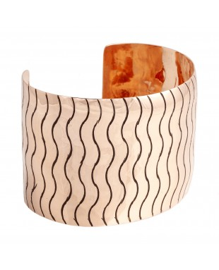 Wave Copper Certified Authentic Handmade Navajo Native American Bracelet 13231