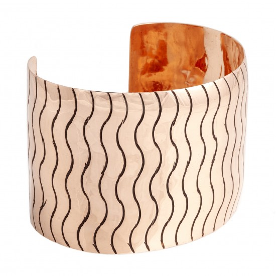 Wave Copper Certified Authentic Handmade Navajo Native American Bracelet 13231 All Products NB180518192930 13231 (by LomaSiiva)