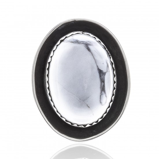 White Howlite .925 Sterling Silver Certified Authentic Navajo Native American Handmade Concho Button 24559 Concho 371016874343 24559 (by LomaSiiva)